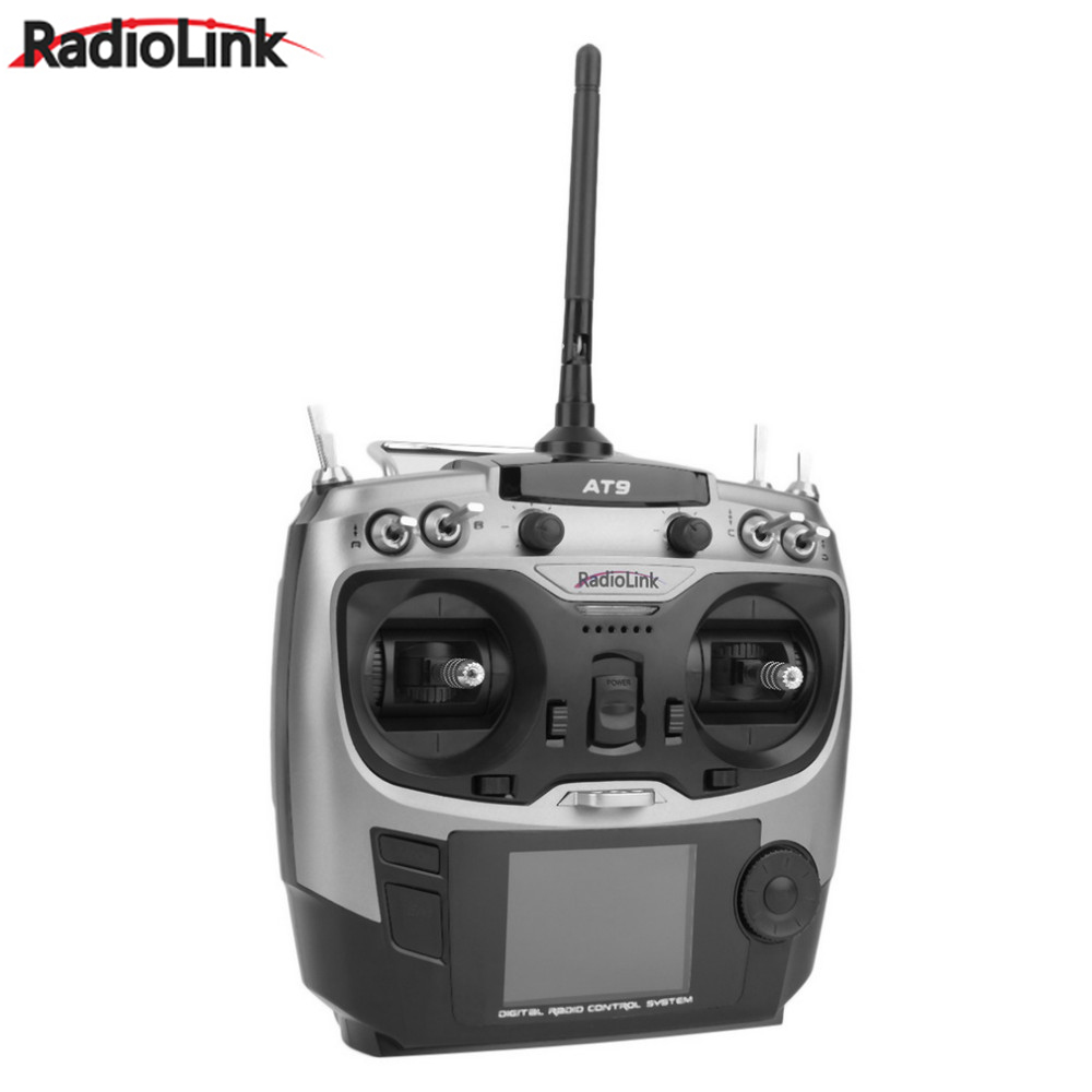 Wholesale 1pcs Radiolink AT9 2.4GHz 9 Channel Transmitter Radio & Receiver TX & RX for RC Toy Helicopter RC hobby parts niorfnio portable 0 6w fm transmitter mp3 broadcast radio transmitter for car meeting tour guide y4409b