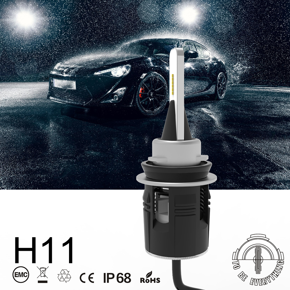 1 Set H8 H9 H11 Bullet B6 LED Headlight 48W 7200LM CSP Y11 Chips All in