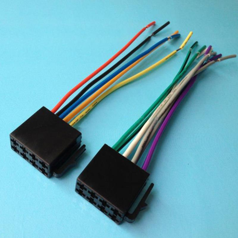 online buy whole car stereo wiring harness kit from car universal iso wire harness female adapter connector cable radio wiring connector adapter plug kit for auto
