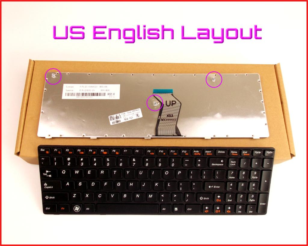 New Keyboard US English Version For LENOVO 25-011429 G560-0679 MP-09F83US-6861 25009755 25-009755 Laptop With Frame