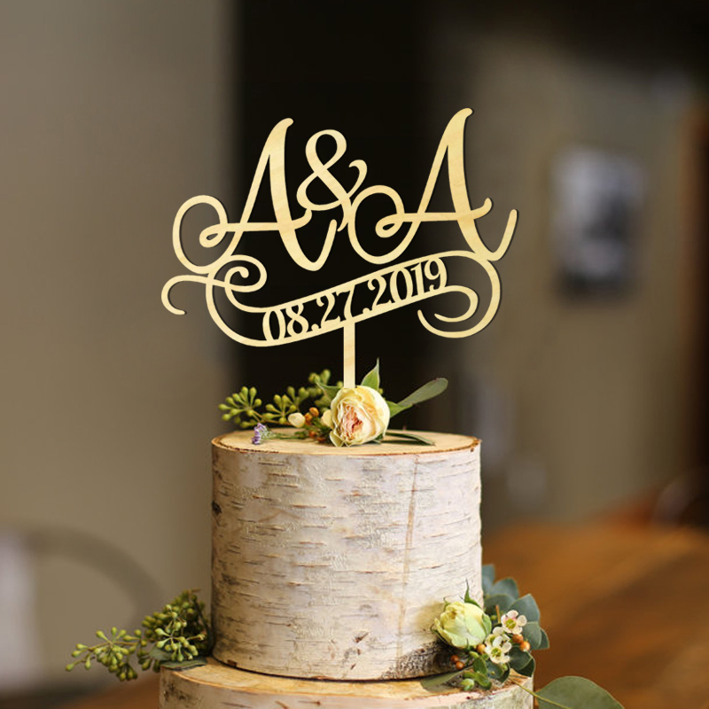Wedding cake topper initials cake topper wedding cake topper letter rustic wedding cake topper Glitter in Cake Decorating Supplies from Home Garden
