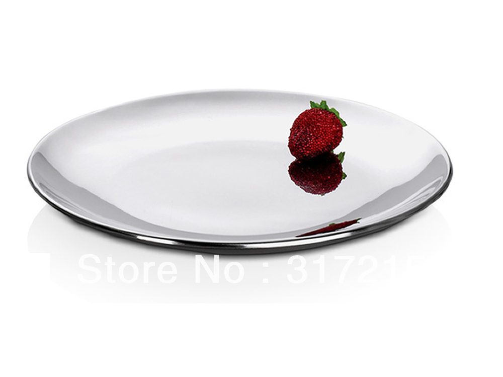 201 stainless steel double layer dish plate best hotel u0026 home dinner plate with heat proof adiabatic fruite plate 8in. wholeale-in Dishes u0026 Plates from Home ...  sc 1 st  AliExpress.com & 201 stainless steel double layer dish plate best hotel u0026 home dinner ...