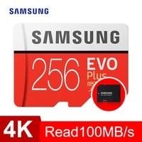 Карта памяти Samsung micro sd 256 GB EVO Plus Class10 95 МБ/с. Водонепроницаемый TF Memoria sim-карты Транс Mikro карты для смартфон 256 ГБ