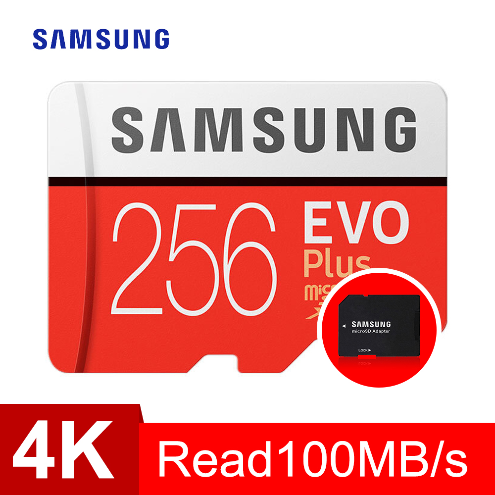 SAMSUNG Memory Card Micro Sd 256GB EVO Plus Class10 95MB/s Waterproof TF Memoria Sim Card Trans Mikro Card For Smart Phone 256gb