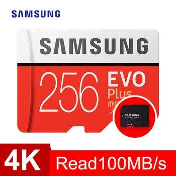 SAMSUNG Memory Card micro sd 256GB EVO Plus Class10 95MB/s Waterproof TF Memoria Sim Card Trans Mikro Card For smart phone 256gb Micro SD Cards