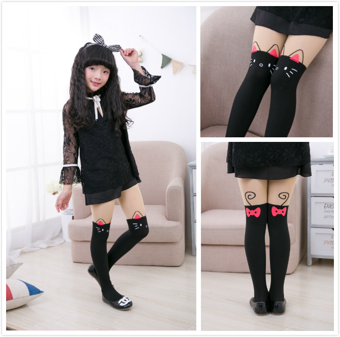 2-12T Spring Summer Girl Cat Tights Autumn Baby Toddler Kids Girls Boys Cotton Tights Stockings Pantyhose Pants Trousers Tights