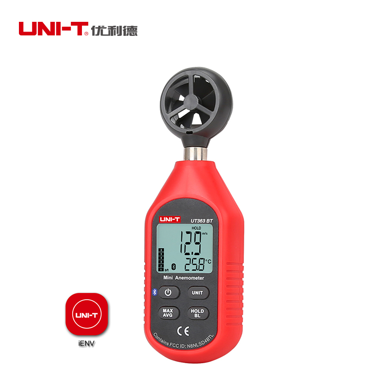 UNI-T UT363BT Mini Bluetooth Digital Anemometer Temperature Wind Speed Gauge Meter And Thermometer  Upgraded From UT363