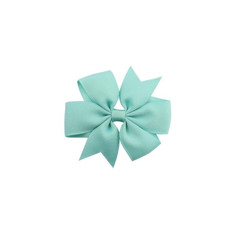 40 цветов сплошная корсажная лента банты заколки шпилька девушка бант для волос, бутик заколки для волос аксессуары для волос - Color: a27 Macarons Green