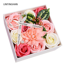 High Quality Peony Flower Head Silk Artificial Wedding Decoration DIY Garland Craft Rose carnation gift box