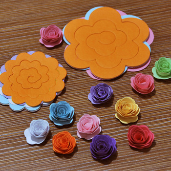 80pcs/lot Paper Quilling flowers rose paper handmade material accessories 1