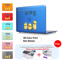 Cute Minions Jeans Insert Dark Blue Unique Fashion Matte Case For Print Macbook Air 11 12