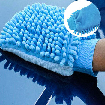 Car Washing Glove Car Glove Washing Microfiber Fleece Cleaning Soft Hand Vehicle Vehicle Microfiber Hand Towel Cleaning Sponge basic pump