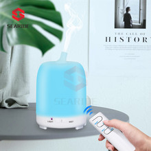 Searide 220ML Remote Control Ultrasonic Air Humidifier Essential Oil Diffuser Electric Aromatherapy With 7 Color Night Light