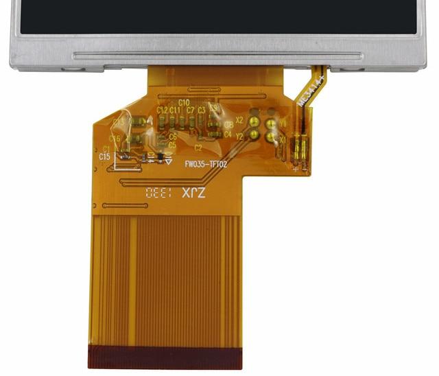 Original 3.5 inch HD TFT LCD display for Satlink WS-6906 WS 6906 Satellite Finder LQ035NC111 LQ035NC121 LCD Screen panel