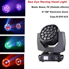 Bee Eye Moving Head 19X15W RGBW 4IN1 LED Beam Light Dj Lighting Effect Wash Party Home Decoration Accessories