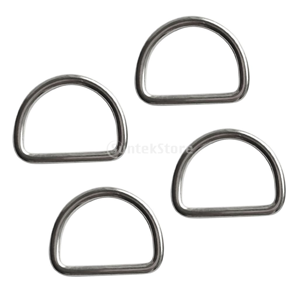 4pcs Diving Scuba D Ring For 30mm Webbing Weight Belt - Marine 316 Stainless Steel