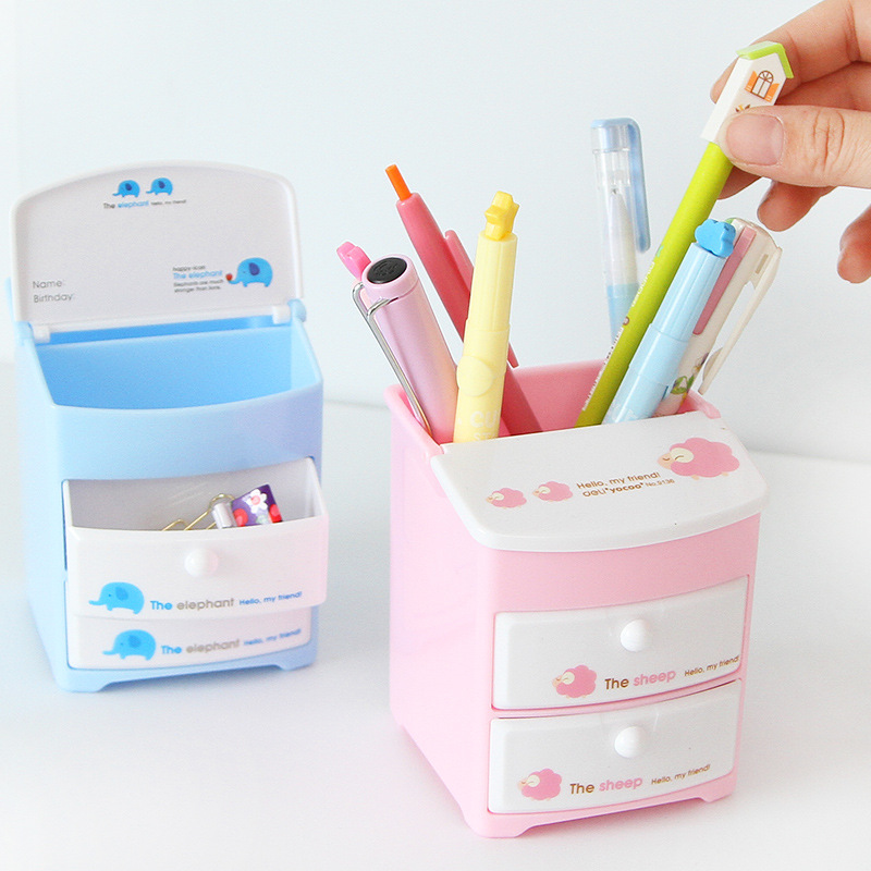 JOUDOO Cute Cartoon Premium Multifunctional Pen Holder Durable Stationery  Orangizer Organizer Desk Stand Office School Supplies In Pen Holders From  Office ...