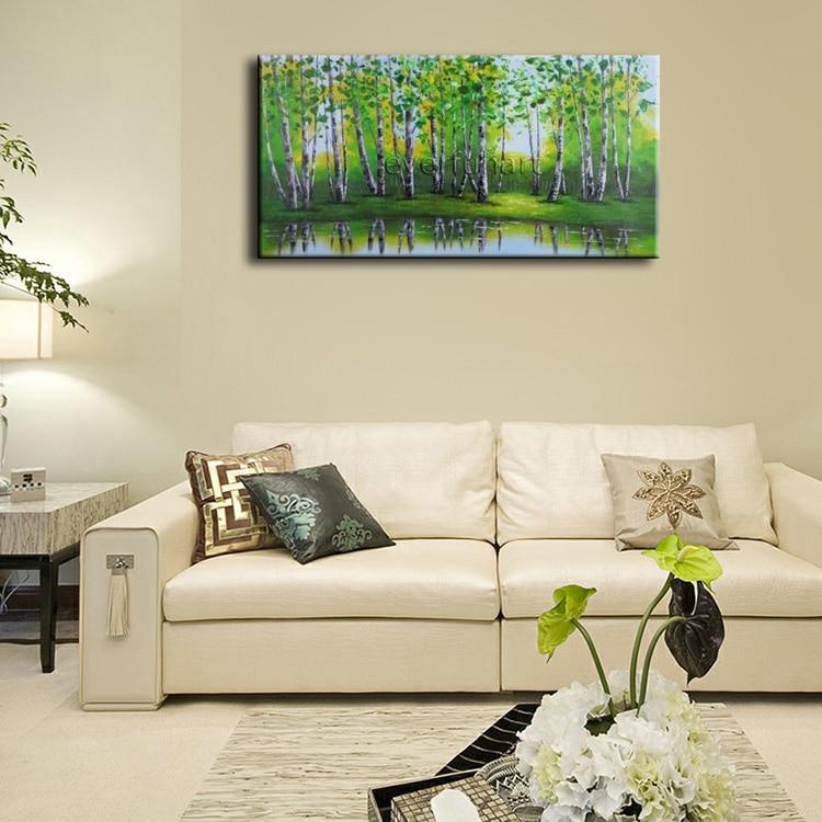 EVERFUN ART Genuine Hand painted Green Spring Landscape Tree Oil ...