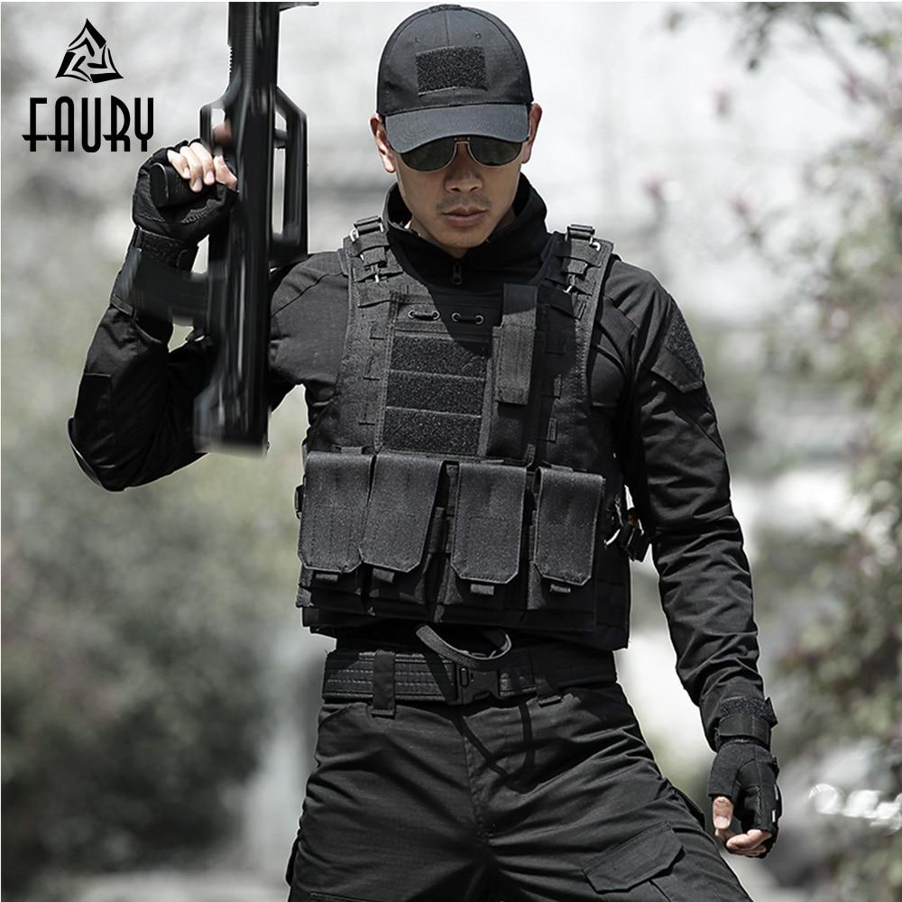Gilet tactique homme chasse equipement militaire Airsoft uniforme militaire gilet de Combat Colete Tatico Chaleco armée gilet noir