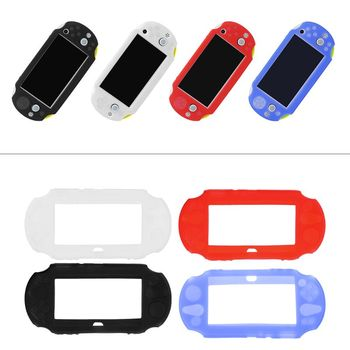 1pc Silicone Rubber Soft Protective Case Cover for Sony PlayStation PS Vita 2000 Protective Shell Case Cover Skin protective vinyl skin decal cover for ps vita psvita playstation vita portable sticker skins diamond plate