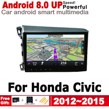 ZaiXi HD IPS Screen Android Car GPS For Honda Civic 2012~2015 Navi Map 2 DIN multimedia player DSP Stereo radio WiFi system 5 0 touchscreen touch panel for dexp ixion es2 touch screen digitizer front glass len sensor repair touchpad protector film
