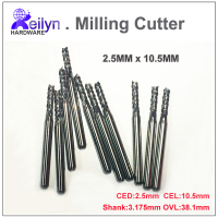 10 Pc 2 5x10 5x3 175mm End Mill PCB Milling Cutter CNC Cutter Mini Drill Bit