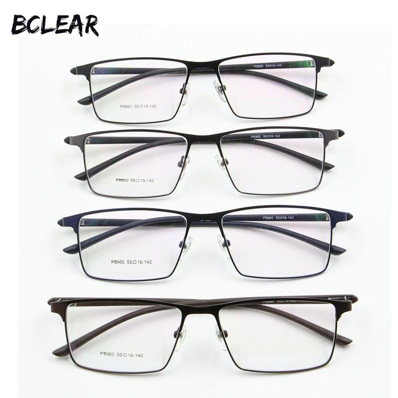 P9960 Homens Material de Liga de Liga de Titânio Óculos de Armação Homens  Óculos de Galvanoplastia IP Aro Completo Armações de óculos Dobradiça de  Mola c14afa2eef