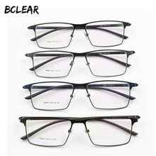 P9960 Mannen Titanium Legering Brillen Frame Mannen Brillen IP Galvaniseren Legering Materiaal Volledige Rand Brilmonturen Lente Scharnier