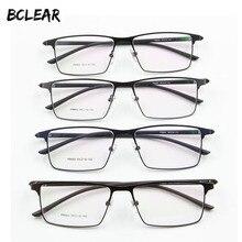 P9960 mężczyźni stopu tytanu ramki okularów okulary męskie IP stop aluminium materiał galwaniczny pełna obręczy oprawki do okularów wiosna zawias
