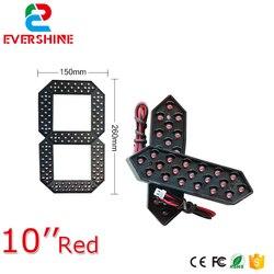10 Módulo de Color rojo verde amarillo y blanco pantalla LED de 7 segmentos Módulo de número LED Gas/aceite/ señal LED precio estación de gasolina