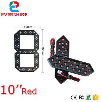 цена на 10 Red Green Yellow and White Color Module 7 Segment LED Display LED Number Module Gas/Oil/Petrol Station Price LED Signs