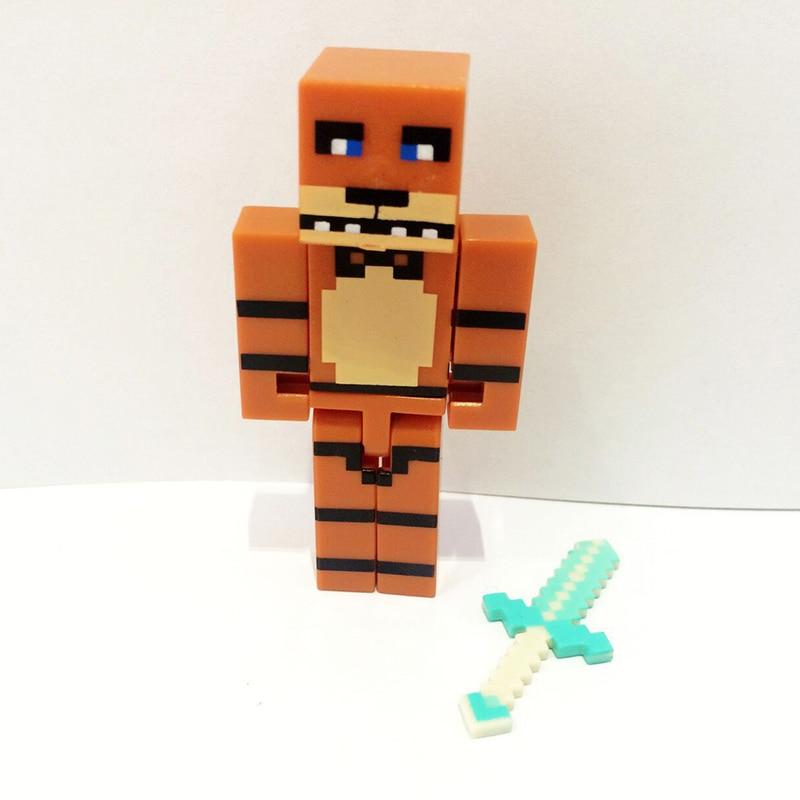 4 հատ / սահմանել Minecraft- ը հինգ գիշեր - Խաղային արձանիկներ - Լուսանկար 3
