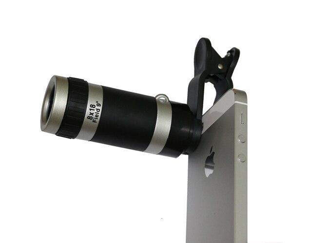 Универсальный 8-кратным зумом оптический телескоп мобильного телефона объектива клип объектив для iPhone Samsung HTC сотового телефона клип объектив
