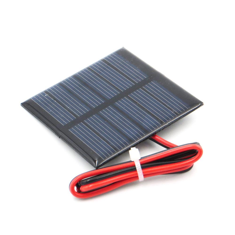 1pc x 3V 120mA with 30cm extend wire Solar Panel Polycrystalline Silicon DIY Battery Charger Small Mini Solar Cell cable toy
