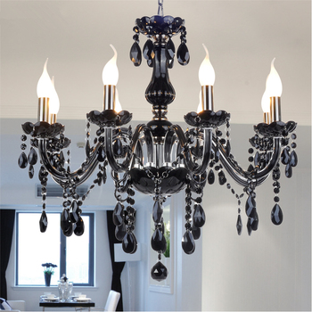 hot selling smoked k9 crystal chandelier lustre crystal chandeliers lustres de cristal chandelier e14 led ac lampshades included New Modern led crystal chandeliers for kitchen room Livingroom Bedroom Gray Color K9 crystal lustres de teto ceiling chandelier