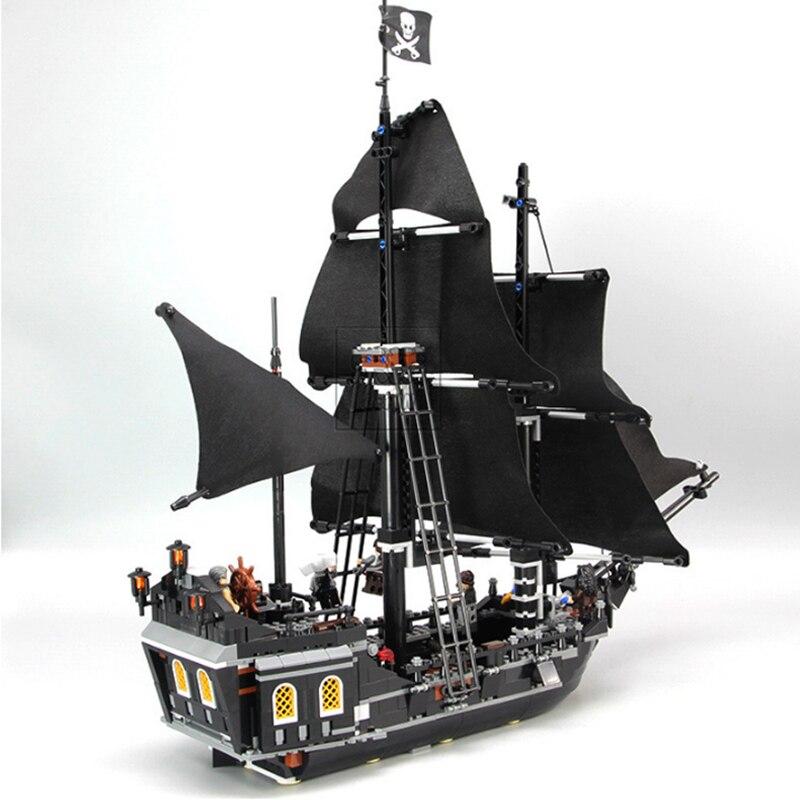 Pirates Des Caraïbes Noir Perle modèle de bateau blocs de construction jouets éducatifs Pour Enfants compatible avec Legoings Briques Cadeaux - 3