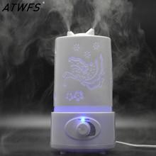 ATWFS Nebulizador Humidificador Ultrasónico LED de Aceite Aroma Difusor de Aromaterapia Difusor Del Filtro de Aire Fabricante de La Niebla Nebulizador Vaporizador
