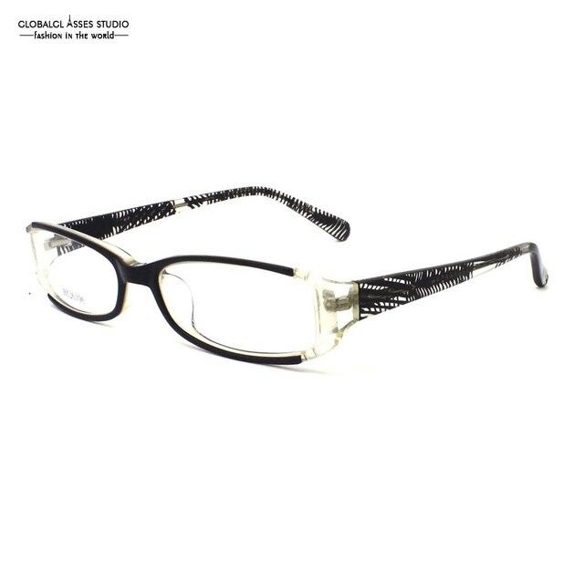 32e1f2a8d Design italiano Retangular Óculos De Acetato de Mulheres/Homens Black &  Transparente Patchwork Tarja HZ26396