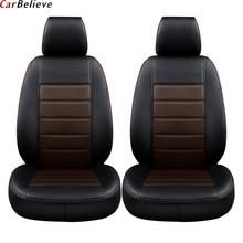 лучшая цена Car Believe car seat cover For skoda superb 2 3 octavia 2 a5 fabia 1 karoq rapid yeti Kodiaq accessories covers for car seats