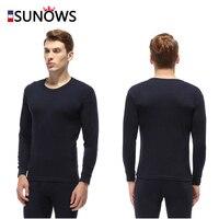 L XXXL Men 100 Cotton Thermal Underwear Sets Male Winter Plus Thick Warm Round Neck Undershirts