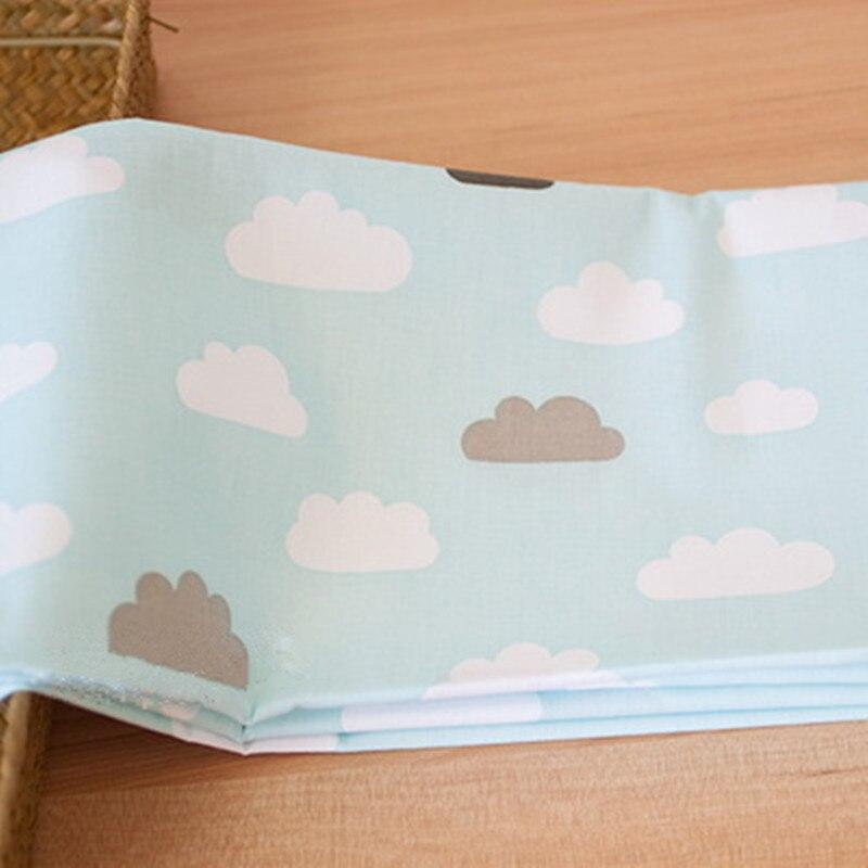 160 CM * 50 CM Nubes de luz azul de Algodón Tela que acolcha Bebé Niños de Tela