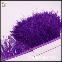South Africa imports ostrich hair Feather flower clothing accessories Handmade ostrich hairs DIY feathers accessories