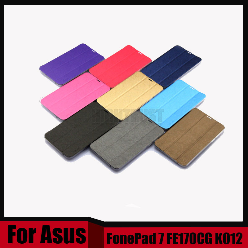3 in 1 Smart Cover Pu leather case For Asus FonePad 7 FE170CG FE170 K012 tablet Pc for asus fe170cg case + Stylus + Screen Film ultra thin smart flip pu leather cover for lenovo tab 2 a10 30 70f x30f x30m 10 1 tablet case screen protector stylus pen