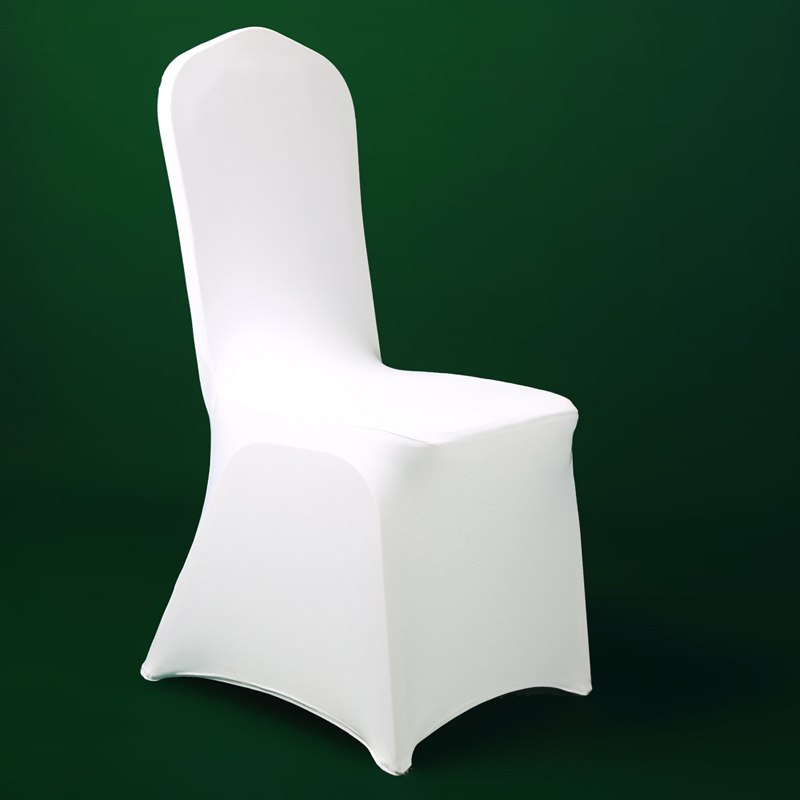 100pcs Popular Cheap Wedding Chair Cloth White Elastic