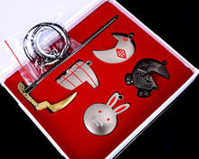 5pcs/set Tokyo Ghoul Sword Metal Key Chain Pendent Set