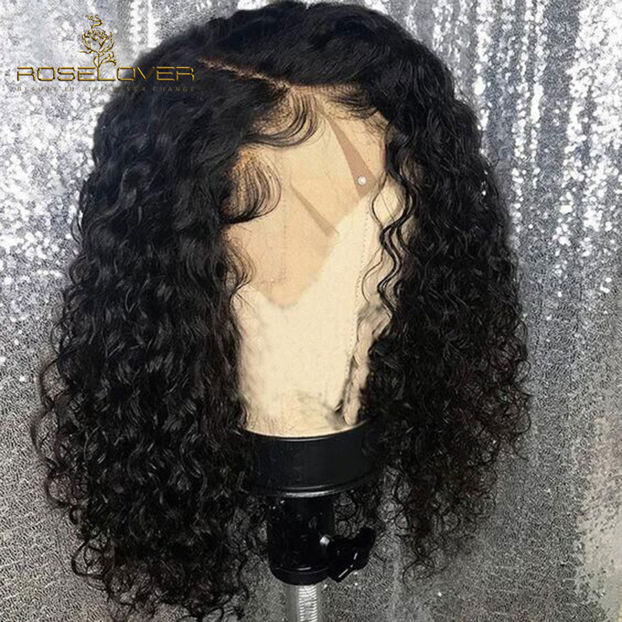 13x6 Lace Front Human Hair Wigs Pre Plucked with Baby Hair Deep Part Curly Malaysia Hair Remy Hair Lace Front Wigs 8-16
