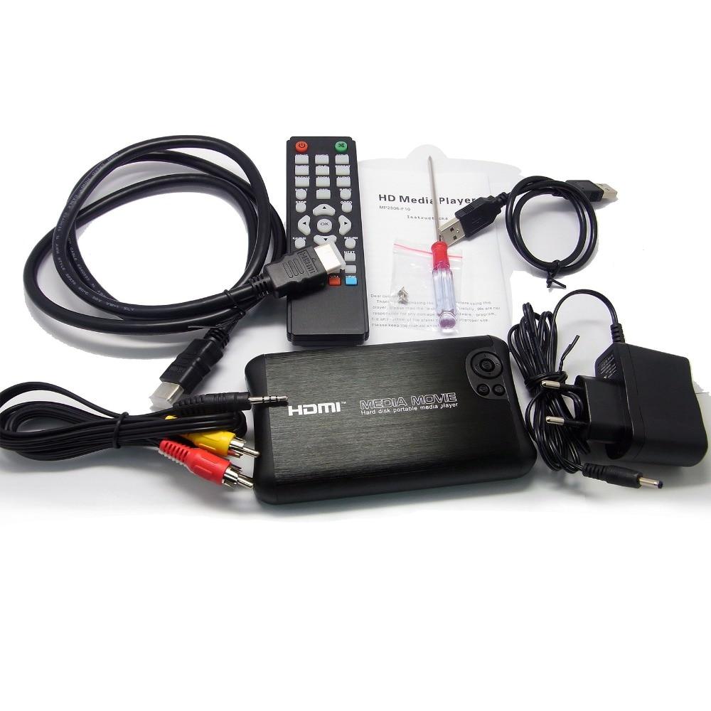 REDAMIGO Full HD 1080 p Mini 1000 gb 2.5 SATA MKV 2.5'' HDD HDMI Media Player Center USB3.0 OTG SD AV TV AVI RMVB RM HDD2506R