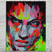 Palette knife portrait Face Oil painting Character figure canvas Hand painted Francoise Nielly wall Art picture 008