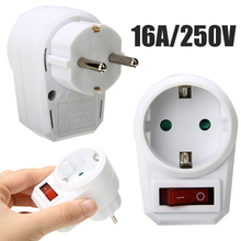 250V Switchable Socket  Switch Plug Power Converter Adapter Universal Portable Outlet Travel