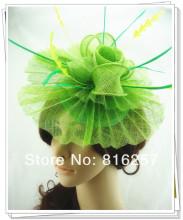 Free shipping 16color high quality sinamay fasinctor hats,nice bridal hair accessories/party hats/cocktail hats,FS43